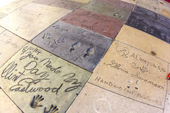 Handprints of Clint Eastwood Royalty Free Stock Images