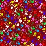 Handprints colorés d'enfants Images libres de droits