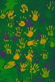 Handprints colorati Immagini Stock Libere da Diritti