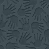 Handprints 3d seamless wallpaper. Stock Image