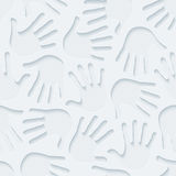 Handprints 3d seamless wallpaper. Stock Images