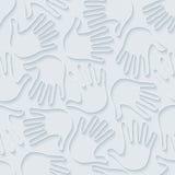 Handprints 3d seamless wallpaper. Stock Photos