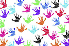 Handprints das crianças Fotografia de Stock