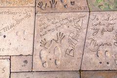 Handprints de Bill Powell et de Myrna Image libre de droits
