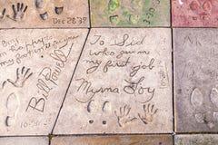 Handprints de Bill Powell et de Myrna Images libres de droits