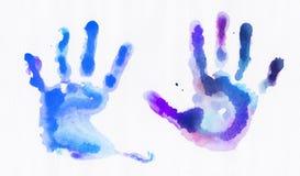 Handprints de la acuarela stock de ilustración