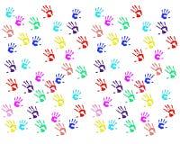 Handprints dzieci ilustracji