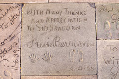 Handprints  of Freddy Bartholonew Stock Images
