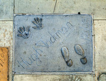 Handprints of Hugh Jackman Stock Photo