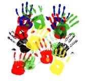 Handprints Mehrfarben Lizenzfreie Stockfotos