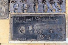 Handprints of Michael jackson Royalty Free Stock Photos