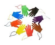 Handprints multicolores Imagen de archivo libre de regalías
