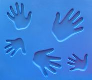 Handprints at Playground. Abstract - Handprints stock photos