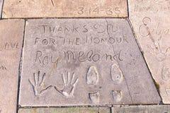 Handprints  of Ray Milland Stock Photo
