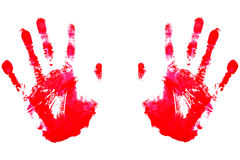 Handprints rouge Image libre de droits