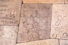 Handprints  of Rudy Vallee Royalty Free Stock Photo