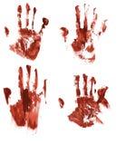 Handprints sangrientos Foto de archivo libre de regalías
