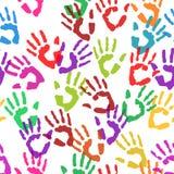 Handprints sans couture de texture Vecteur Photo libre de droits