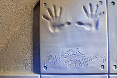 Handprints of Sylvester Stallone Stock Photography
