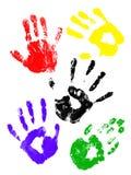 Handprints van childs Vector Illustratie