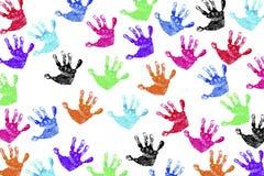 Handprints van kinderen Stock Fotografie