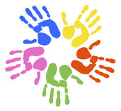 Handprints Royalty Free Stock Image