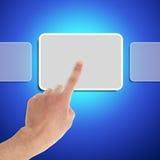 Handpunkt-Quadratsymbol Stockbild