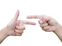 Handpunktansammlung stockbilder