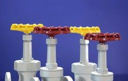 Handräder für industrielle Ventile lizenzfreies stockfoto