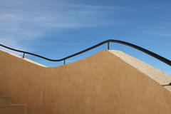 Handrail. Modern touristic fort near Matmata, Tunisia stock image