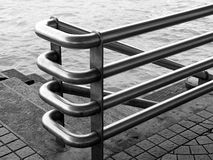 The Handrail. Picture taken at the harbor front of Kowloon, Hong Kong Stock Photo
