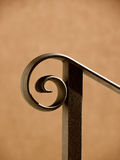 Handrail (7). Black handrail and housewall in the sunlight Royalty Free Stock Images