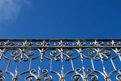 Handrail against the blue sky Royalty Free Stock Image