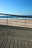 Handrail beach. Iron handrail of a Mediterranean beach Royalty Free Stock Image