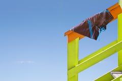 Handrail beach trunks Stock Photos