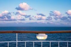 Handrail on a cruise ship. On the Baltic Sea stock photos
