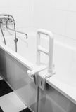 Handrail for disabled and elderly people in the bathroom Royalty Free Stock Photos