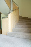 Handrail and interior stairs Stock Photos