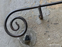 Handrail. Iron handrail in a medieval city Royalty Free Stock Photos