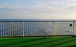 Handrail on the ship. Stock Images
