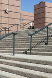 Handrail and steps. A monumental staircase and handrail royalty free stock photo