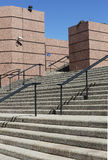 Handrail and steps. A monumental staircase and handrail stock photography