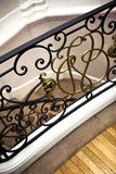 Handrail. Wrought iron handrail in a French house royalty free stock images