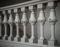 Handrails in a building. Handrail on stairway in palace royalty free stock photos