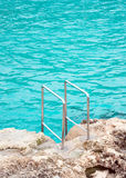 Handrails near the sea. Stock Photo