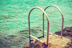 Handrails near the sea. Royalty Free Stock Image