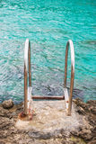 Handrails near the sea. Stock Image
