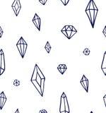 Handrawn水晶宝石样式传染媒介 向量例证