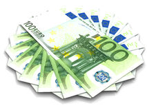 Handred euro. Very beautiful three-dimensional illustration, figure. Handred euro. 3d Stock Photo