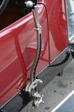 Handrem op uitstekend voertuig Stock Foto's